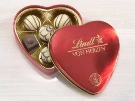 lindt corazon de metal